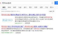 关键词郑州SEO培训硬是被别人给刷起来了!